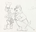 Animation Art:Production Drawing, It's the Wolf! Layout Drawings Group of 15 (Hanna-Barbera,1969).... (Total: 15 )