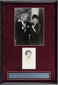 Music Memorabilia:Original Art, Liza Minelli Sketch Signed by Artist Tony Bennett. ...