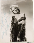 Movie/TV Memorabilia:Autographs and Signed Items, A Marilyn Monroe Signed Black and White Photograph, Circa 1953....