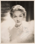 Movie/TV Memorabilia:Autographs and Signed Items, A Marlene Dietrich Signed Black and White Photograph, 1954....