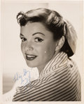 Movie/TV Memorabilia:Autographs and Signed Items, A Judy Garland Signed Black and White Photograph, Circa 1950....