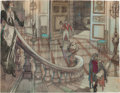 "Movie/TV Memorabilia:Original Art, An Original Pre-Production Set Drawing from ""Gone With The Wind.""..."
