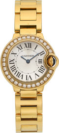 Estate Jewelry:Watches, Cartier Lady's Diamond, Gold Ballon Bleu Watch. ...