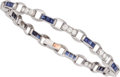 Estate Jewelry:Bracelets, Diamond, Sapphire, Platinum Bracelet, Oscar Heyman Bros. . ...