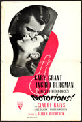 """Movie Posters:Hitchcock, Notorious (RKO, 1946). Pressbook (32 Pages, 12"""" X 17"""").. ..."""