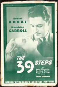 "The 39 Steps (Gaumont., R-1938). Uncut Pressbook (12 Pages, 12"" X 18""). Hitchcock"
