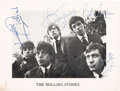Music Memorabilia:Autographs and Signed Items, Rolling Stones Signed Promo Photo (1963)....