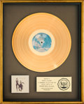 Music Memorabilia:Awards, Fleetwood Mac Rumours RIAA Gold Record Sales Award (WarnerBros. BSK 3010, 1977)....