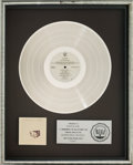 Music Memorabilia:Awards, Fleetwood Mac Tusk RIAA Platinum Record Sales Award (WarnerBros. 2HS 3350, 1977)....