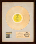 Music Memorabilia:Awards, The Dave Clark Five's Greatest Hits White Mat RIAAGold Record Award (Epic BN 26185, 1966). ...