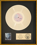 Music Memorabilia:Awards, Rod Stewart Camouflage RIAA Gold Record Sales Award (WarnerBros. 1-25095, 1984)....