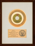 """Music Memorabilia:Awards, Harold Melvin and the Bluenotes """"If You Don't Know Me By Now"""" RIAAWhite Mat Gold Record Sales Award (Philadelphia Internation..."""