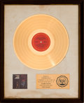 Music Memorabilia:Awards, Mike Bloomfield, Al Kooper, and Stephen Stills Super SessionRIAA White Mat Gold Record Award (Columbia CS 9701, 1...