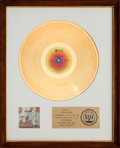 Music Memorabilia:Awards, Rufus Rags to Rufus RIAA White Mat Gold Record Award (ABCRecords ABCX-809, 1974). ...