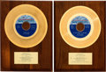 "Music Memorabilia:Awards, Supremes ""Up The Ladder To The Roof"" and ""Stoned Love"" In-HouseGold Record Sales Awards (Two) (Motown M 1162, M 1172, 1970)....(Total: 2 Items)"