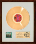 Music Memorabilia:Awards, Sonny & Cher All I Ever Need Is You RIAA White Mat GoldRecord Sales Award (Kapp KS-3660, 1972). ...
