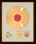 Music Memorabilia:Awards, Bob Dylan Nashville Skyline RIAA White Mat Gold Record SalesAward (Columbia XSM 139756, 1969)....