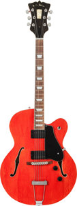 Musical Instruments:Electric Guitars, 1996 R.C. Allen Red Archtop Electric Guitar, Serial # 1015-96T....