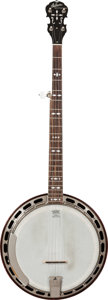Musical Instruments:Banjos, Mandolins, & Ukes, 1926 Gibson Style 3 Red Stain 5 String Banjo, Serial # 8125-5....