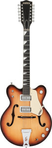 Musical Instruments:Electric Guitars, 1967 Gretsch Model 6075 Sunburst 12 String Semi-Hollow BodyElectric Guitar, Serial # 57108....