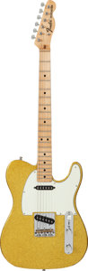 Musical Instruments:Electric Guitars, 1969 Fender Telecaster Gold Sparkle Solid Body Electric Guitar,Serial # 279146....