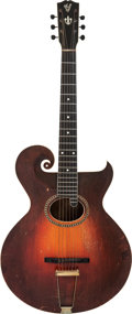 Musical Instruments:Acoustic Guitars, Circa 1918 Gibson Style O Artist Sunburst Acoustic Guitar....