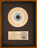 "Music Memorabilia:Awards, Doobie Brothers ""What A Fool Believes"" RIAA Gold Single Award(Warner Bros. Records, WBS 8725, 1978)...."