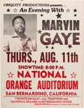 Music Memorabilia:Posters, Marvin Gaye National Orange Auditorium Concert Poster (1977)....