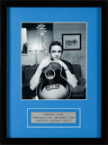 Music Memorabilia:Autographs and Signed Items, Johnny Cash Signed Photograph (circa 1980s)....