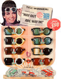 "Movie/TV Memorabilia:Memorabilia, Annette Funicello ""Way Out Are Way In!"" Sunglasses and Display(1967). ..."