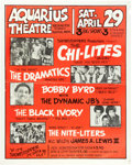 Music Memorabilia:Posters, Chi-Elites/Dramatics Aquarius Theatre Concert Poster (ShowstoppersProductions, Early 1970s)....