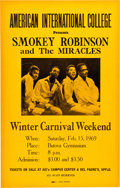 Music Memorabilia:Posters, Smokey Robinson And The Miracles Butova Gymnasium Concert Poster(1969)....