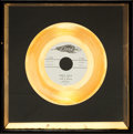 "Music Memorabilia:Awards, Jan & Dean ""Baby Talk"" Framed Gold 45 Single Record (Dore 522,1959)...."