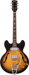 Musical Instruments:Electric Guitars, 1969 Gibson ES-330 Sunburst Hollow Body Electric Guitar, Serial # 848031....