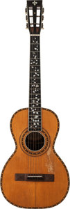 Musical Instruments:Acoustic Guitars, 1900 Washburn Parlor Natural Acoustic Guitar, Serial # 17421....