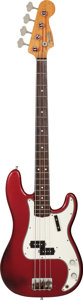 Musical Instruments:Bass Guitars, 1980 Fender Precision Bass Candy Apple Red Electric Bass Guitar, Serial #V029065....