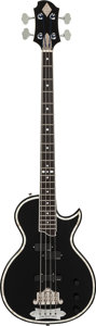 Musical Instruments:Bass Guitars, Circa 2008 Zemaitis By Greco GZB300 Black Electric Bass Guitar, Serial # 0805100....