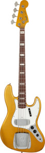Musical Instruments:Bass Guitars, 2011 Fender Custom Shop '66 Relic Re-Issue Jazz Bass Gold SparkleElectric Bass Guitar, Serial # R57602....