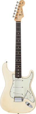 1961 Fender Stratocaster Blonde Solid Body Electric Guitar, Serial #66594