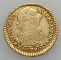 Colombia, Colombia: Charles IV gold 2 Escudos 1790 P-SF VF,...