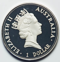 Australia: Elizabeth II gold, silver, and platinum Proof Set 1992,... (Total: 3 coins)