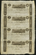 Obsoletes By State:Ohio, Cincinnati, (OH)- (John H. Piatt & Company) $5-$3-$2-$1 18__Uncut Sheet. ...