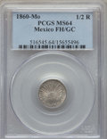 Mexico, Mexico: Republic 1/2 Real 1860 Mo-FH/GC MS64 PCGS,...
