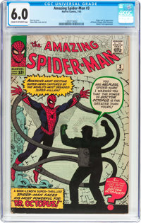 The Amazing Spider-Man #3 (Marvel, 1963) CGC FN 6.0 Cream to off-white pages
