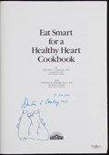 "Non-Sport Cards:Singles (Pre-1950), Denton Cooley Signed ""Eat Smart for a Healthy Heart"" Cookbook -With Heart Sketch (Surgeon Responsible for First Heart Transpl..."