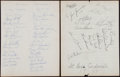 Autographs:Letters, Circa 1965 St Louis Cardinals Team Signed Sheets (3) IncludingFlood, Schoendienst, Brock, and Gibson. ...