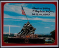 Autographs:Bats, Charles W. Lindberg Signed Iwo Jima Photo....