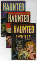 Golden Age (1938-1955):Horror, Haunted Thrills #12-14 Group (Farrell, 1953-54) Condition: AverageApparent VG/FN. Includes #12, 13, and 14. Each exhibits s...(Total: 3 Comic Books)