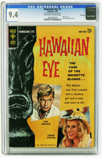 Hawaiian Eye #1 File Copy (Gold Key, 1963) CGC NM 9.4 Off-white to white pages. Troy Donahue, and Connie Stevens photo c...