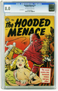 Golden Age (1938-1955):Horror, Hooded Menace #1 (Realistic Comics, 1951) CGC VF 8.0 Off-white towhite pages. Based on a band of hooded outlaws in the Paci...
